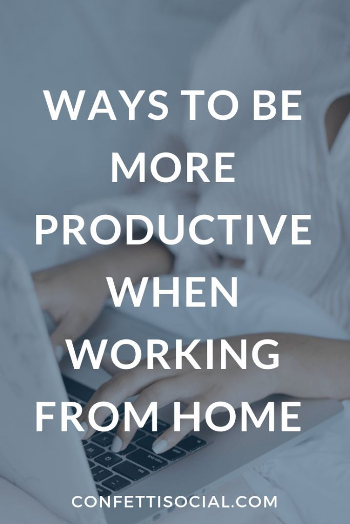 Ways to Be More Productive Working From Home Learn how to be more productive when working from home.  productivity tips | entrepreneur productivity | systems and processes | business systems