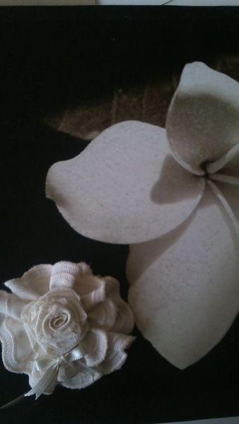 aplique comunion, arras en blanco roto de Errederosa complementos por DaWanda.com