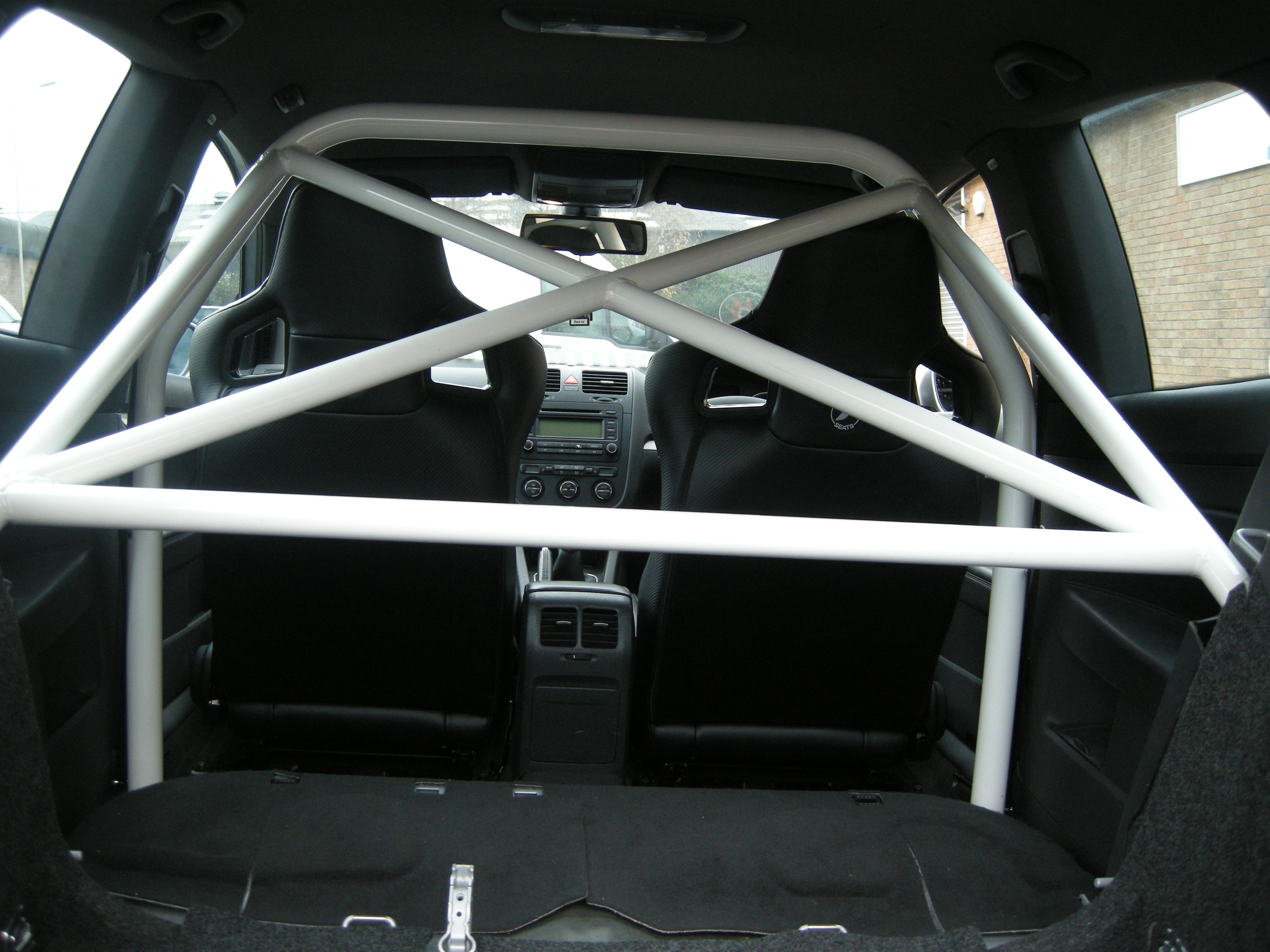 Mk 5 Golf bolt in roll cage | Golf ideas | Roll cage, Top