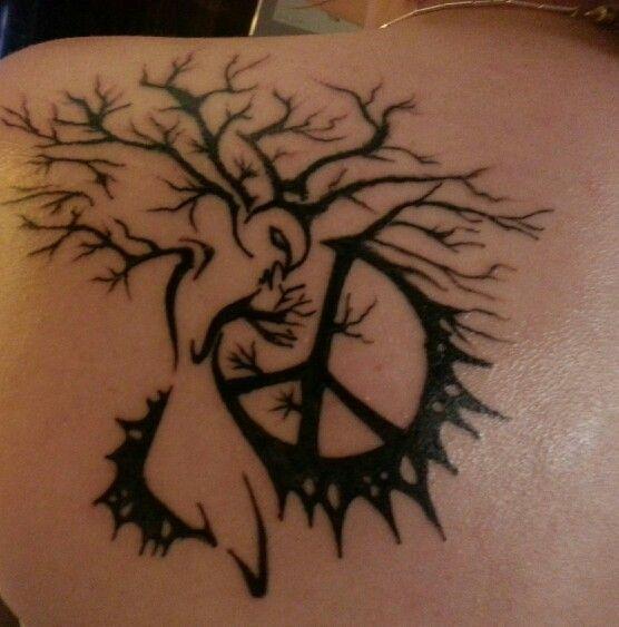 70 Cute Peace Tattoos: Tree Of Life Peace Sign Tattoo - Google Search