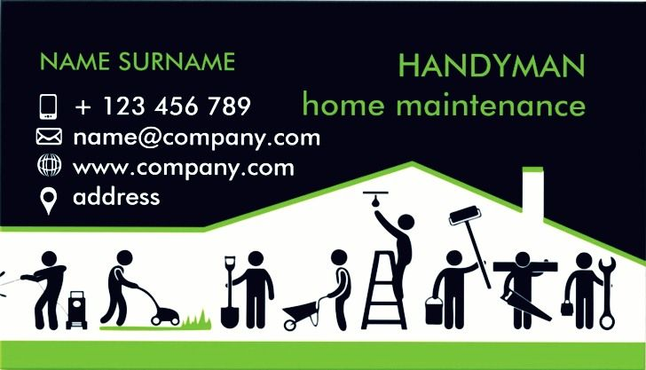 Get our printable handyman business cards templates in