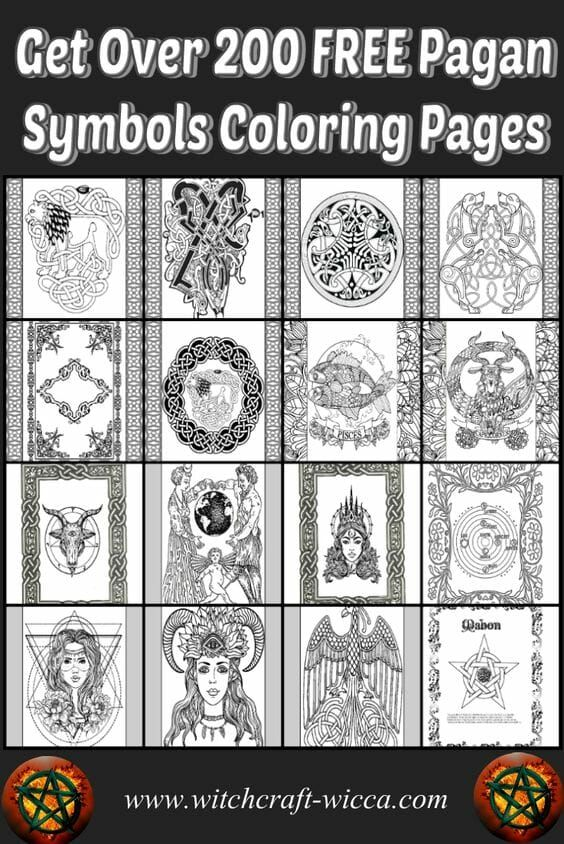 wicca digital books for instant download  witch coloring