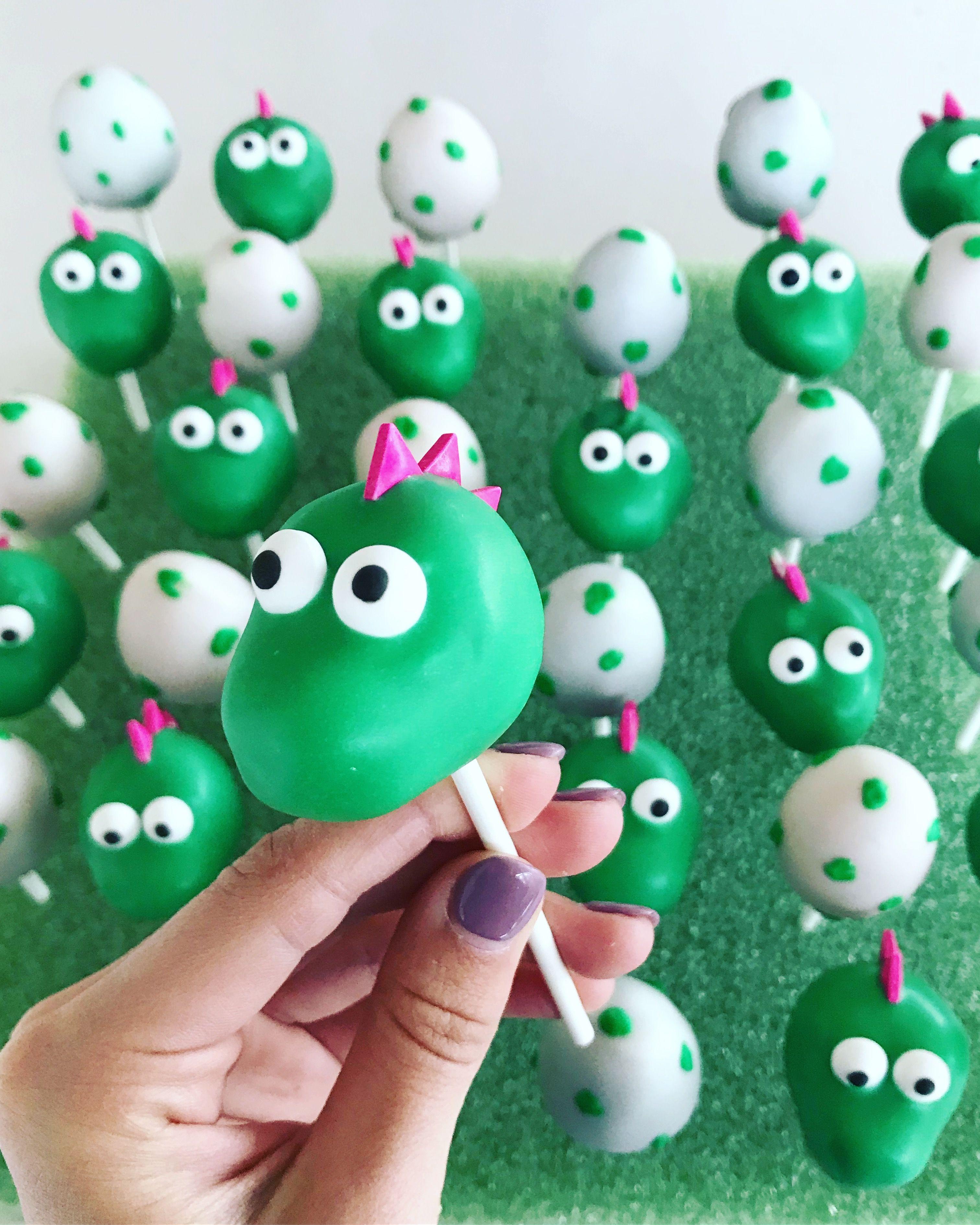 Dinosaur Cake Pops With Images Dinosaur Cake Pops Dinosaur
