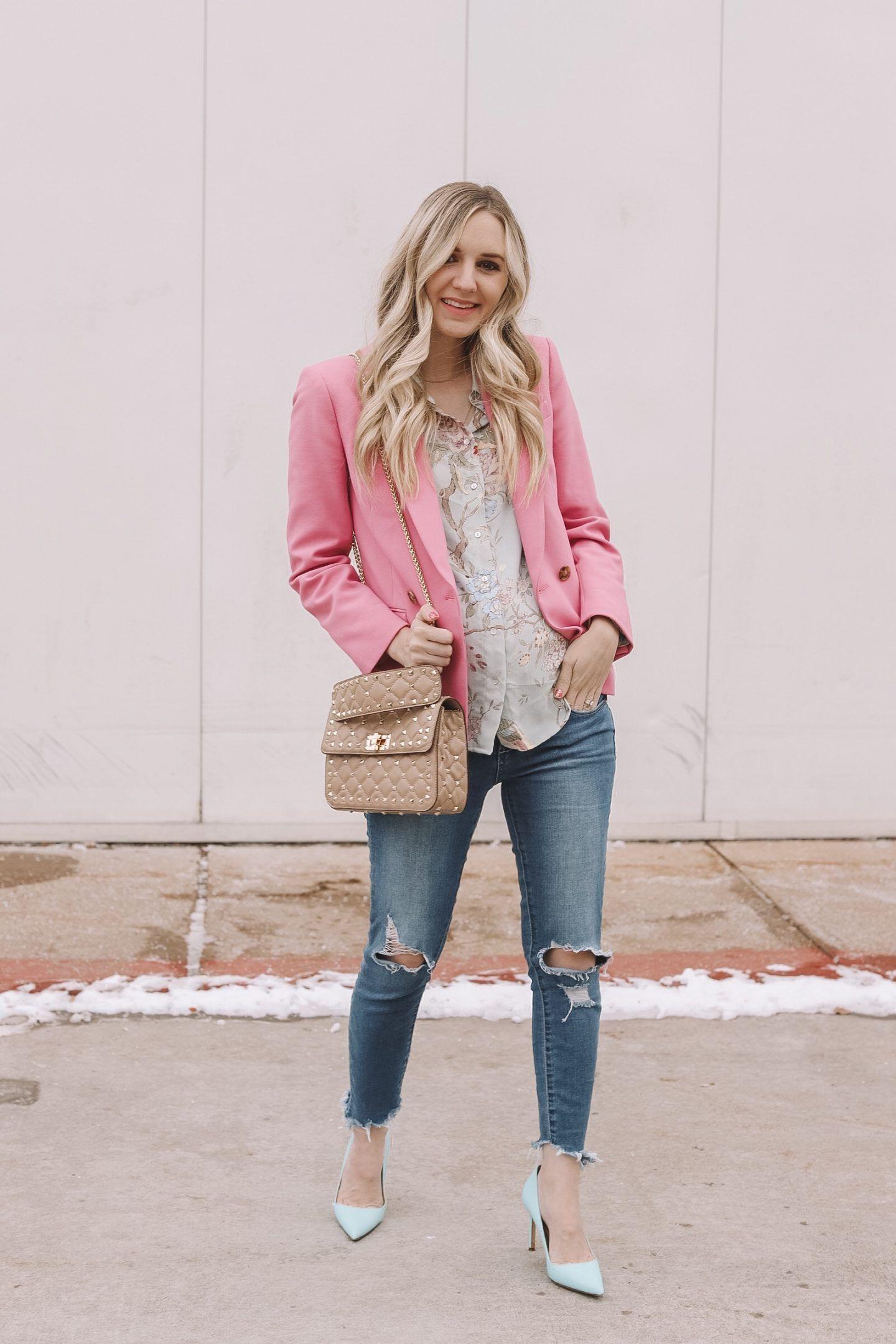 36de6bfeb1f9 20 of the best girls  night   date night ideas styling a pink blazer ...