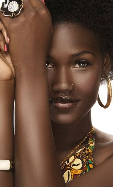beautiful chocolate black beautiful woman