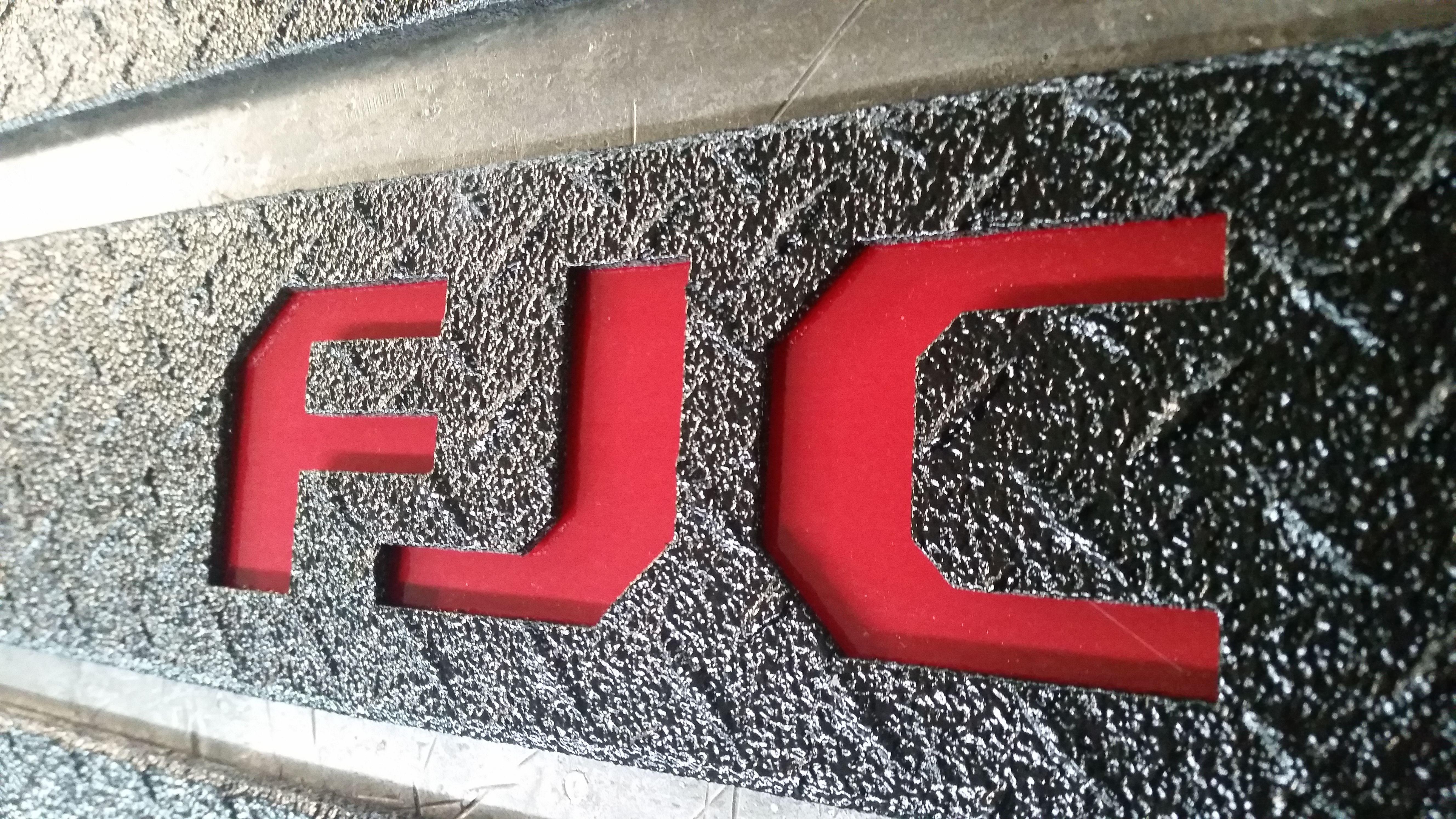 Toyota FJ Cruiser 1 Car Tag Diamond Etched on Black Aluminum License Plate