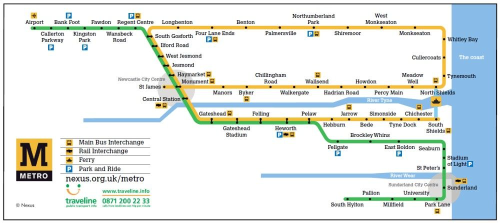 Metro Stations | Nexus | Explore in Newcastle | Map, Newcastle metro ...