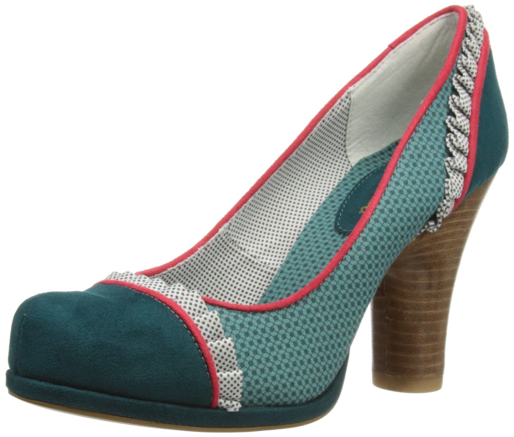 Ruby Shoo Womens Drew Court Shoes 08542 Teal 5 UK ddd234e747ff