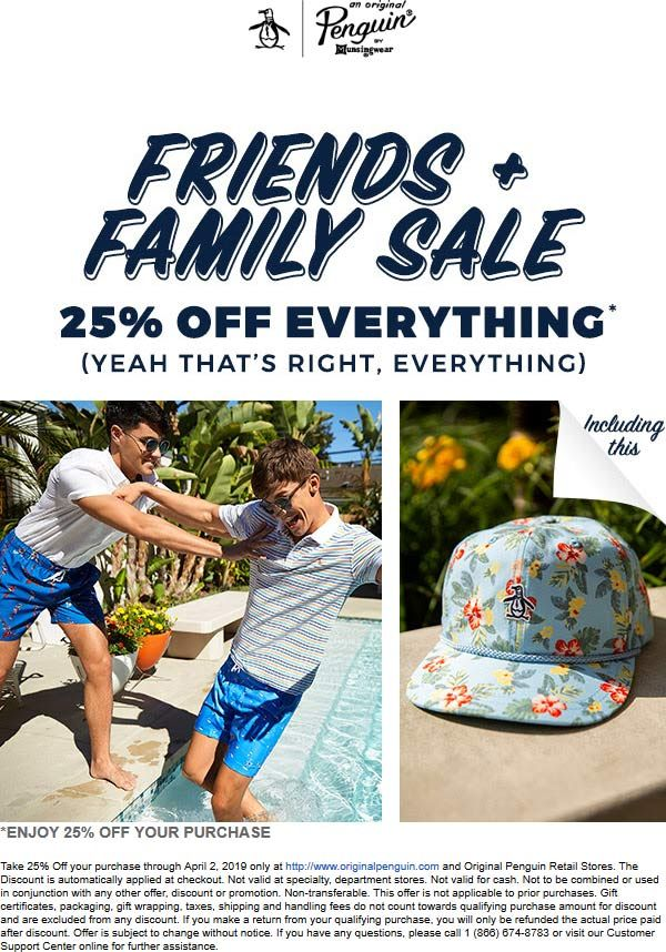 Pinned March 24th 25 off everything at OriginalPenguin