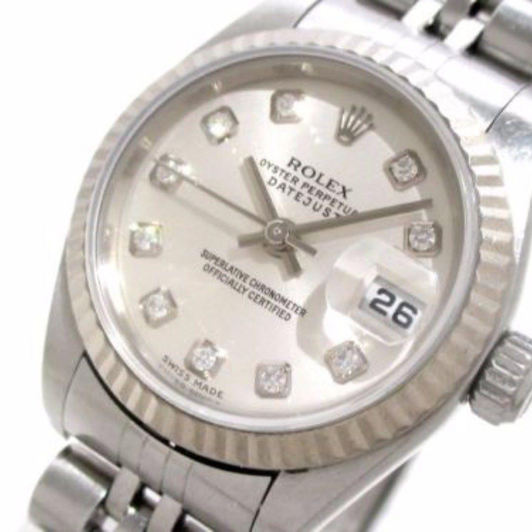 ROLEX The Datejust 79174G Silver woman's Wrist Watch Y618589 #brandear #watch http://ift.tt/2znr1It