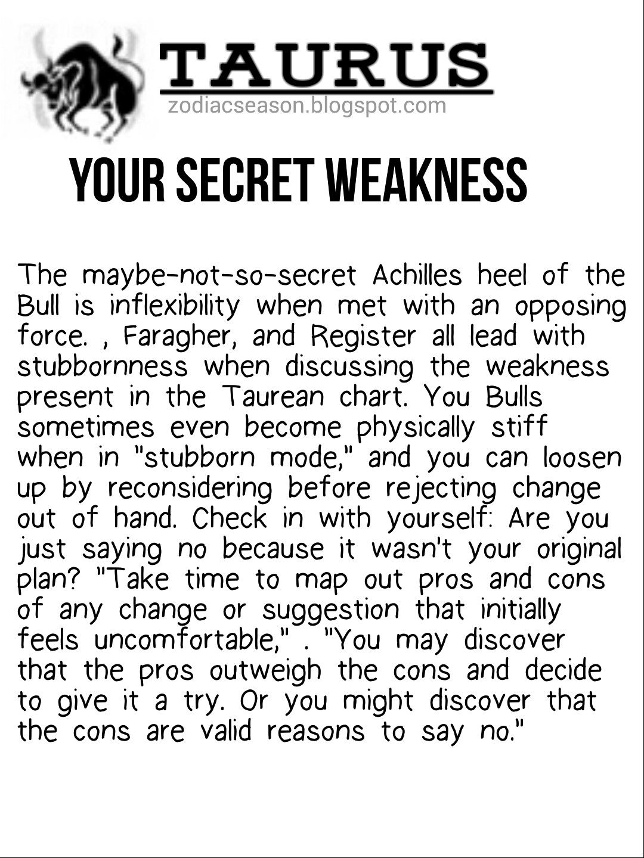 Taurus secret weakness   Taurus quotes, Taurus zodiac