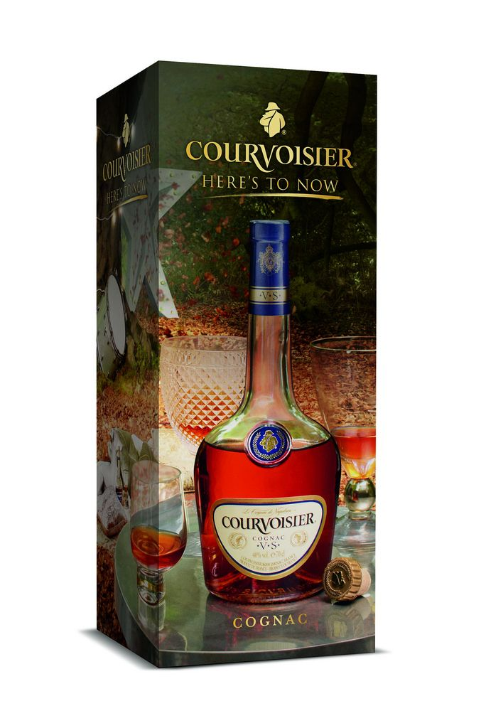 Luxury gift carton to support Courvoisier's Here's to Now campaign