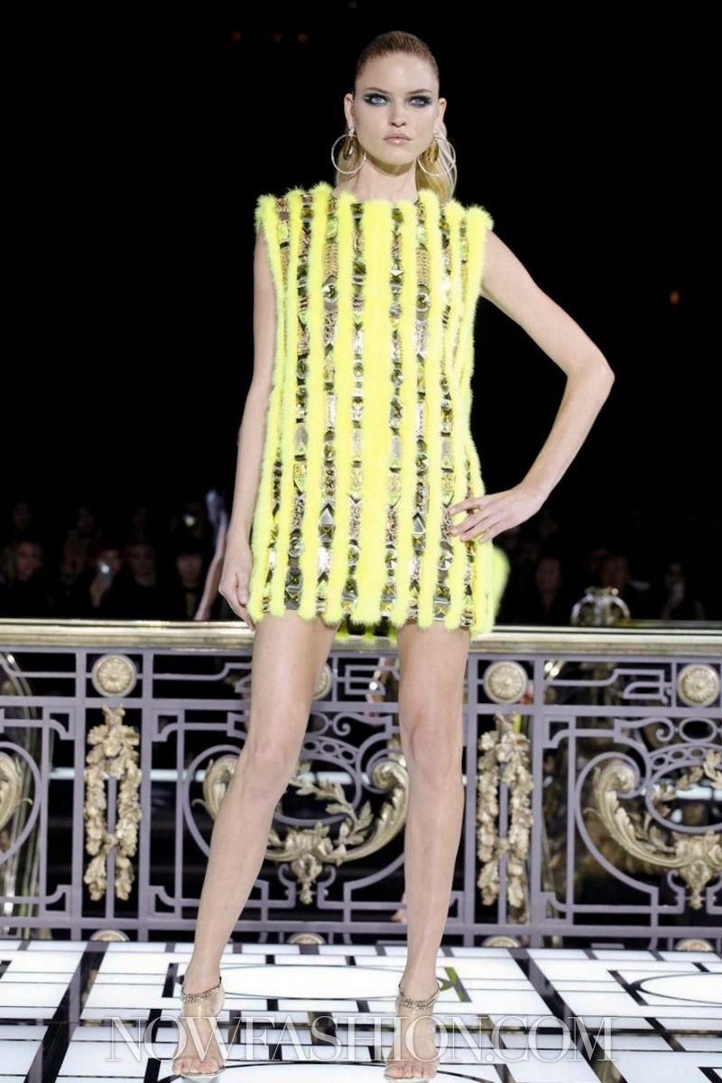 I-line. Versace Atelier Couture Spring Summer 2013 Paris.