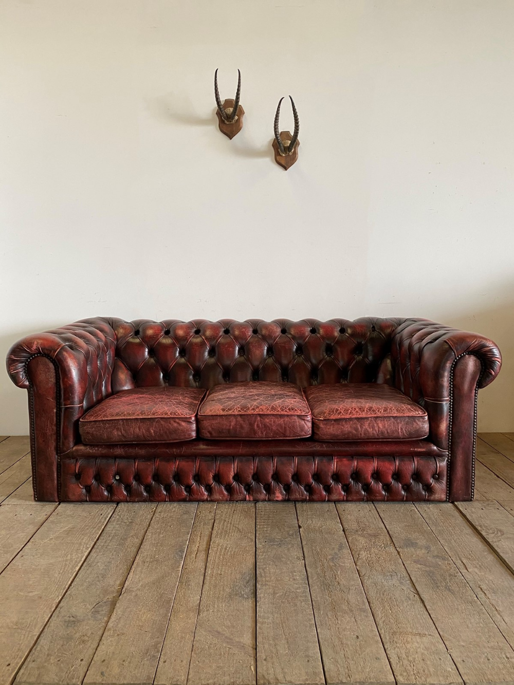Vintage Leather Chesterfield Sofa The