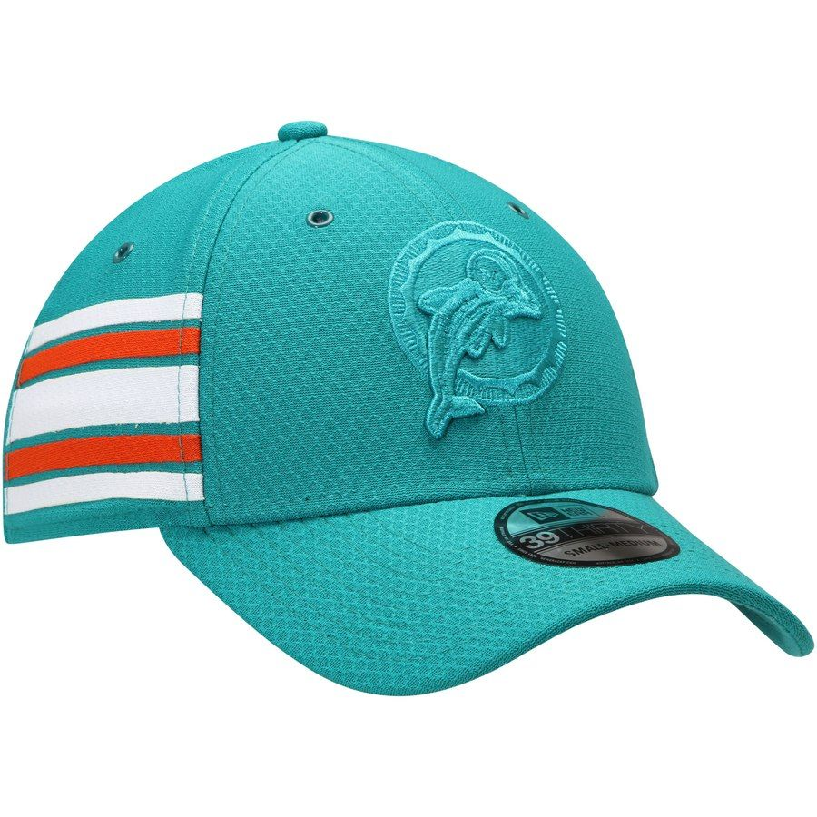 differently 6b4e2 505cd Men s Miami Dolphins New Era Aqua Historic Logo Kickoff Reverse 39THIRTY  Flex Hat,  31.99
