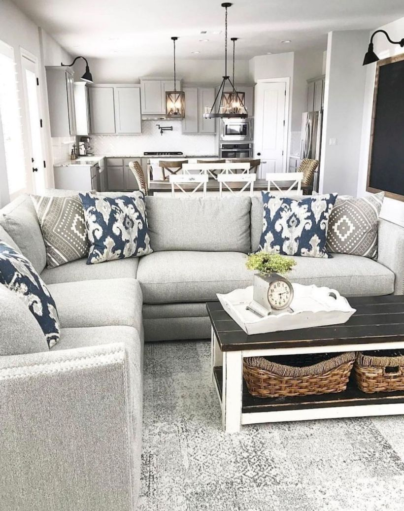 45 Amazing Rustic Farmhouse Style Living Room Design Ideas ...
