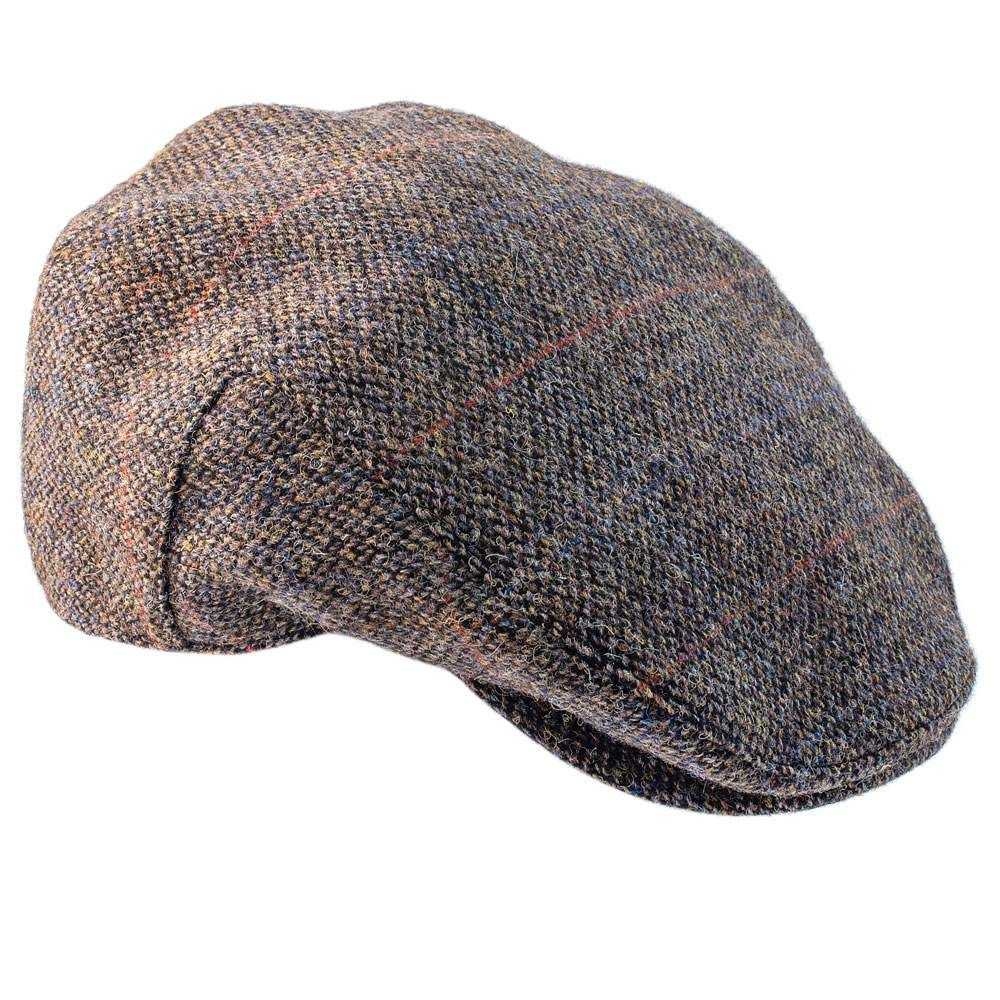 Highland Harris Tweed Flat Cap - Hats and Caps - Alexander James - English Country Clothing