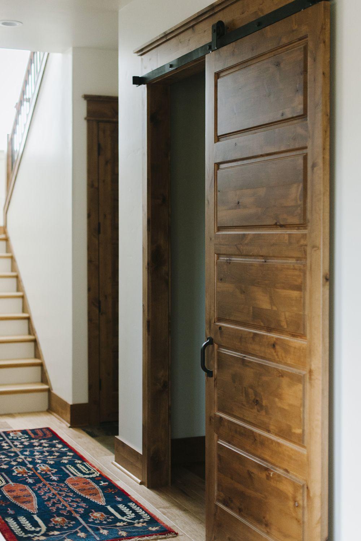 Barn Door Rogue Valley Door In 2020 Knotty Alder Doors Doors Interior Bathroom Barn Door
