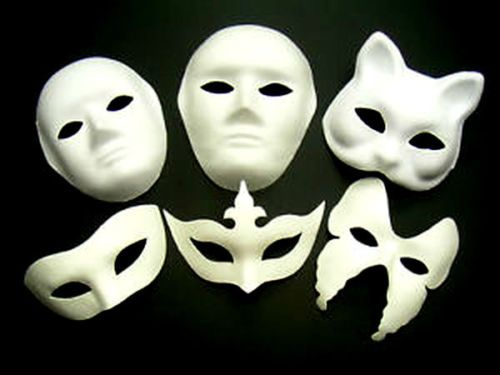 Plain Masquerade Masks To Decorate White Mask Plain Face Fancy Dress Decorate Party Play Masquerade