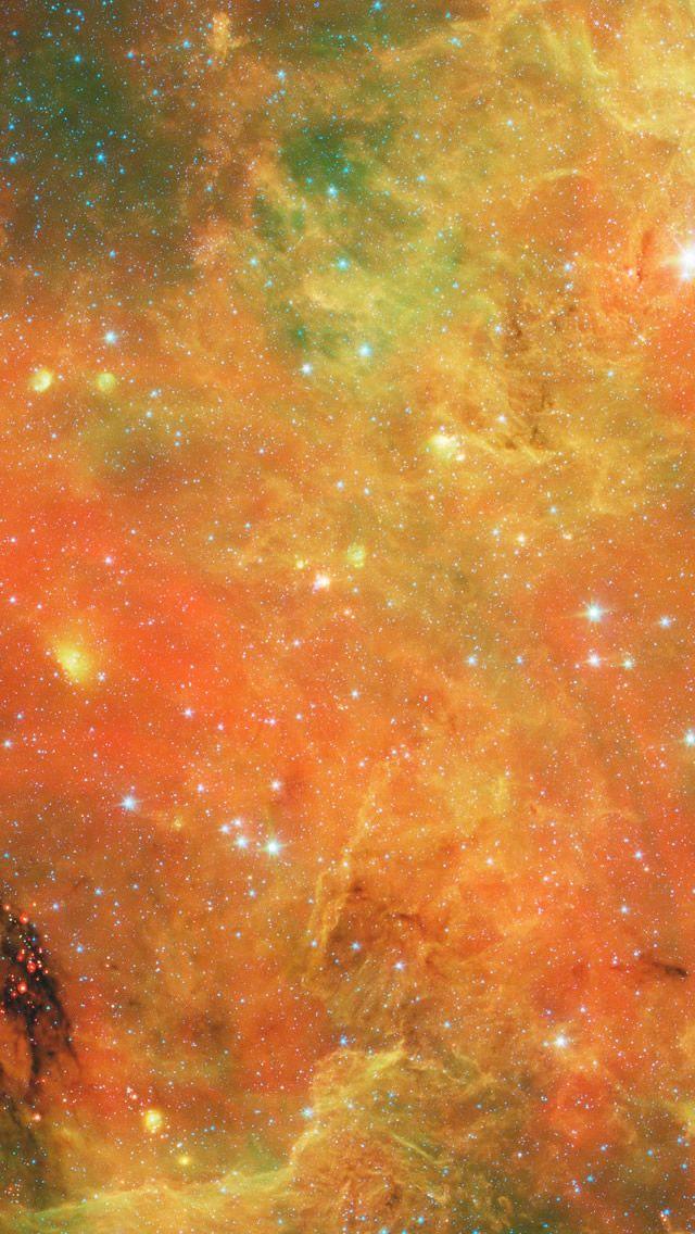 Orange Nebula iPhone 5s Wallpaper Galaxy wallpaper