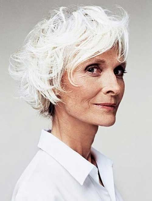 Haircuts For Grey Hair Over 70