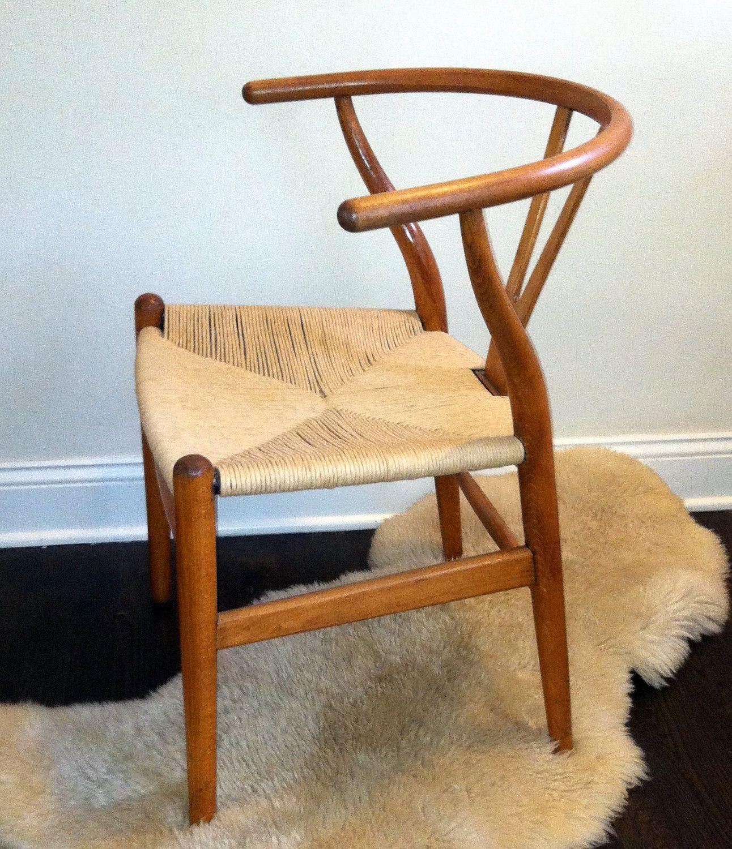 set of 6 vintage hans wegner danish modern wishbone chairs ch24 3 via etsy. Black Bedroom Furniture Sets. Home Design Ideas