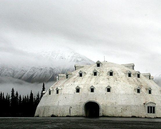 An abandoned igloo resort hotel in Alaska. photo: Sara Heinrichs
