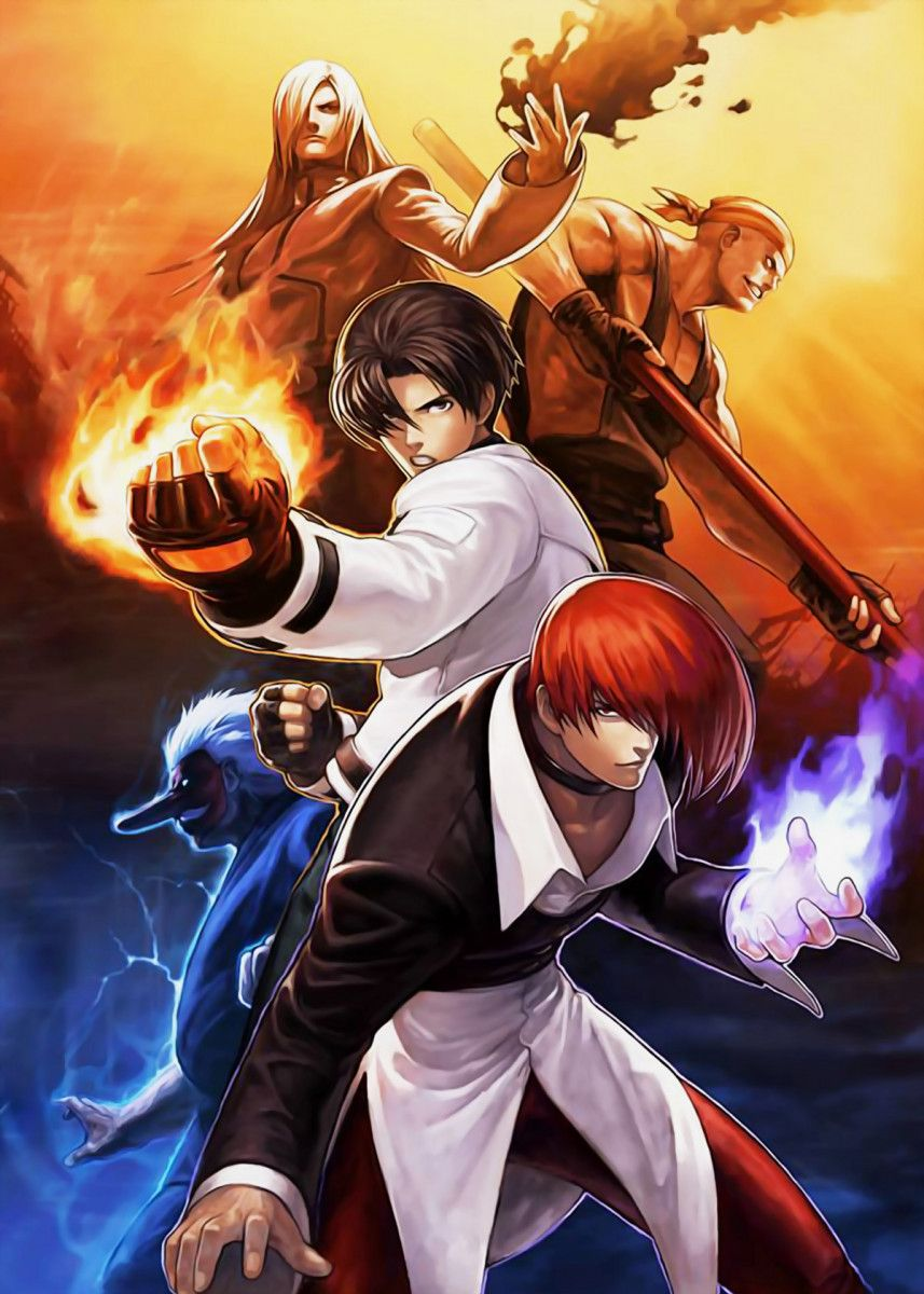 The King Of Fighterss Poster Print By Animefreak Studio Displate In 2020 King Of Fighters Fighter Capcom Vs Snk