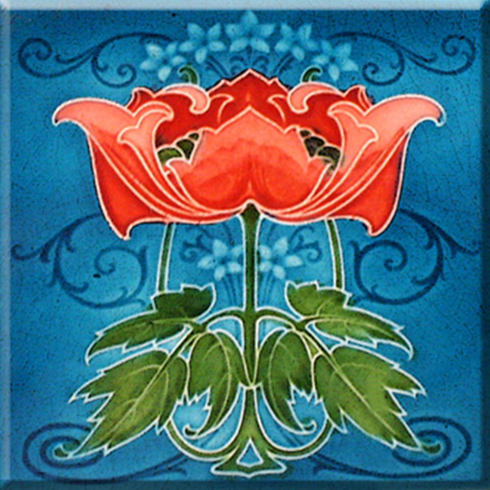 Decorative Wall Tile Art Art Nouveau Reproduction Ceramic Decorative Wall Tile 425 X 425