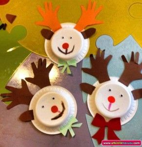 paper plate reeindeer craft | Paper plate animal craft