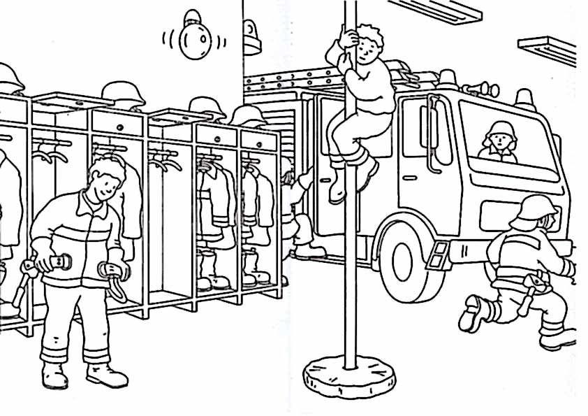 Baustelle ausmalbilder  ausmalen feuerwehr – Ausmalbilder für kinder | Feuerwehr ...