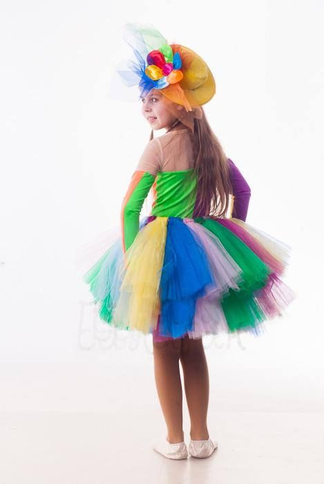 Halloween Girl\u0027s clown costume Rainbow tutu dress Halloween - halloween ideas girls