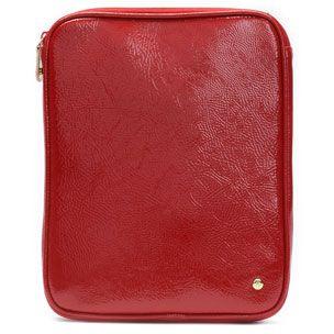 Stephanie Johnson Malibu Red iPad Case - Scarlet red crinkle patent.