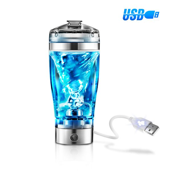 USB Rechargeable Electric Blender Cup Protein Shaker Bottle Fruits ...