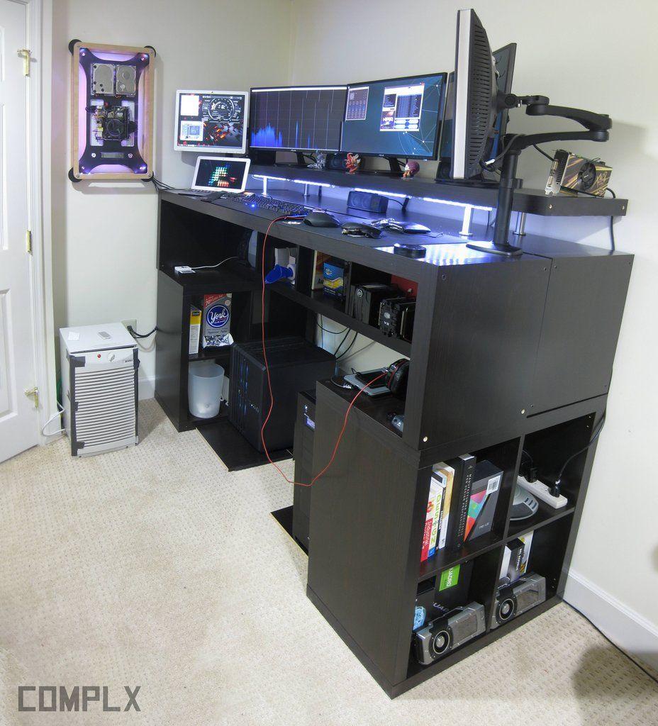 Standing Desk | Gaming room setup, Room setup, Computer setup