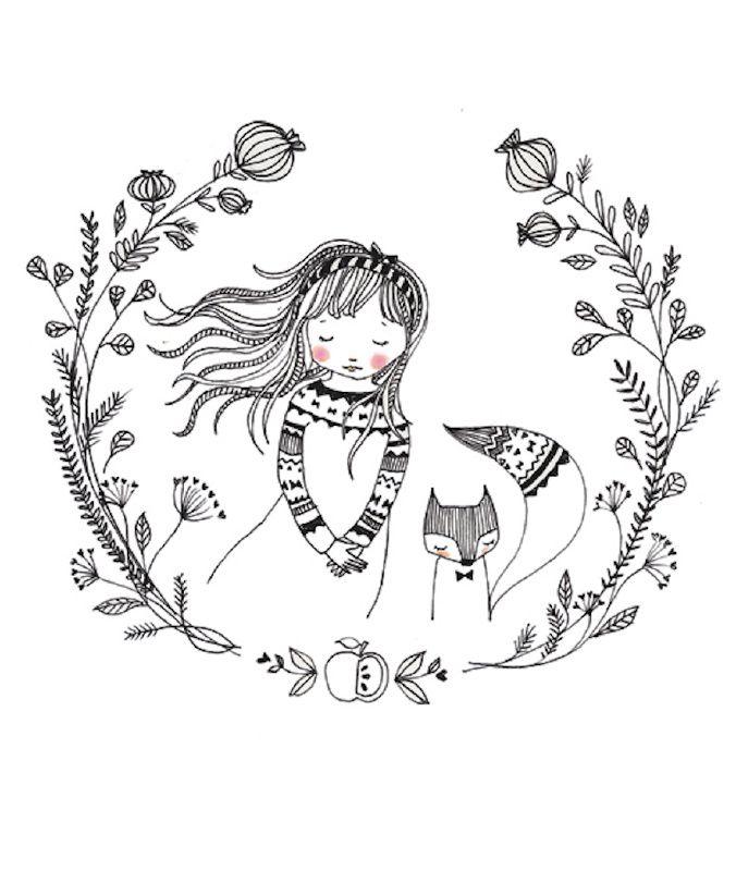 Marieke ten Berge 'A4 Poster Dream Girl' www.petitelouise.nl