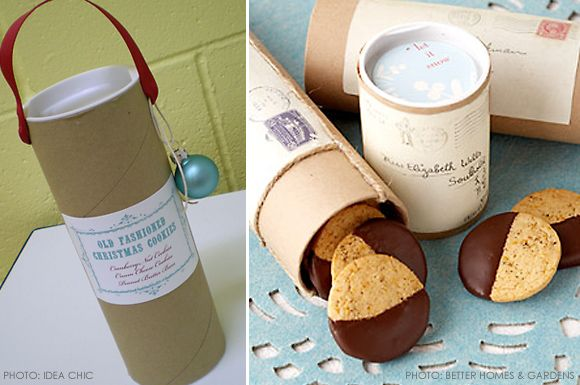 Cookie Packaging Idea: Mailing Tubes. I'm going to send Christmas ...
