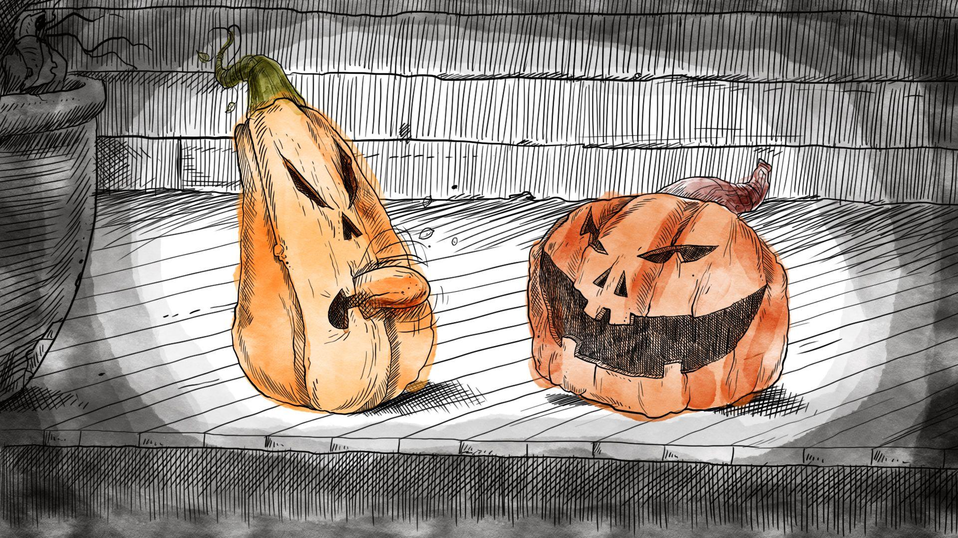 Working on Halloween