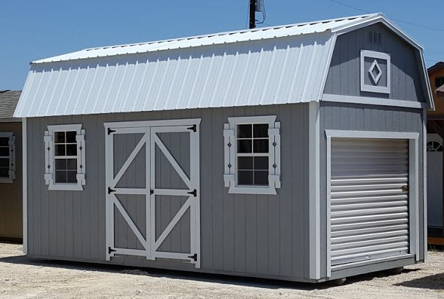 Beautiful And Ready To Go 10 X20 Lofted Portable Garage Storage Shed Shed Storage Shed Metal Storage Buildings