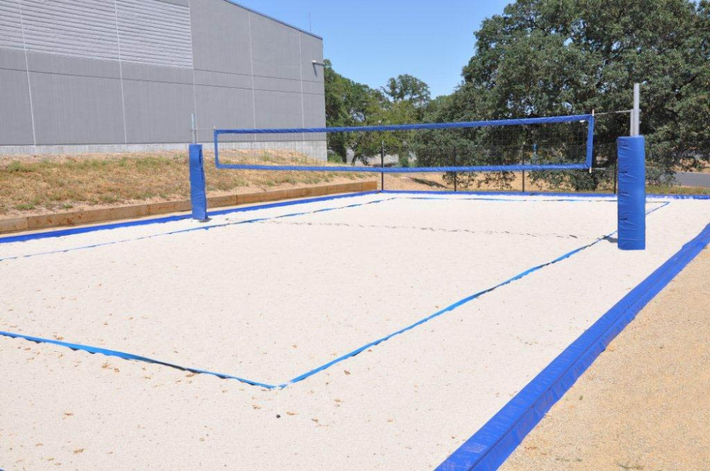 How To Construct A Volleyball Court Volleyballusa Com Volleyball Court Backyard Sand Volleyball Court Beach Volleyball Court
