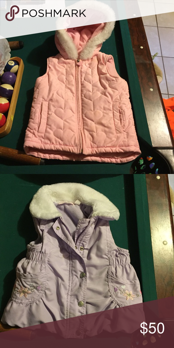 Girls winter jackets Never used due to daughter not using it. $50 OBO. Will sell separately If needed. Pink jacket size 4t and purple jacket size 5. Jackets & Coats