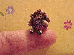 Micro crochet - This site has mini and micro crochet images (in addition to some that don't look crocheted at all). Must make time to do some thing like this myself sometime.