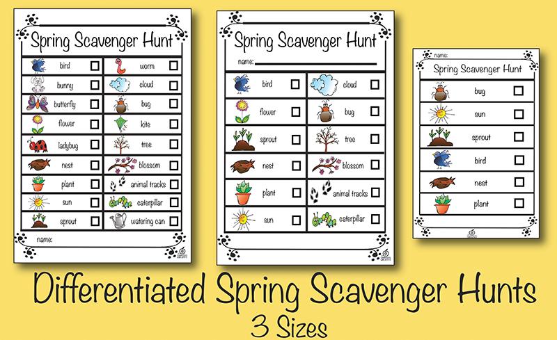 differentiated spring scavenger hunt Scavenger hunt