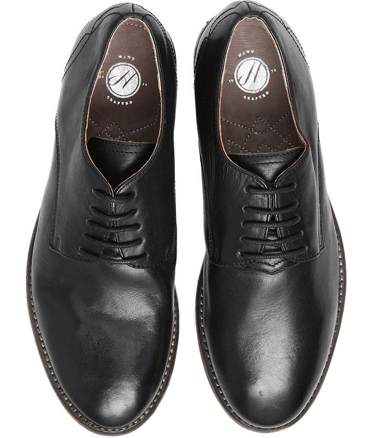 88959330707 Women s Roundel (Black) Leather Derby Shoe