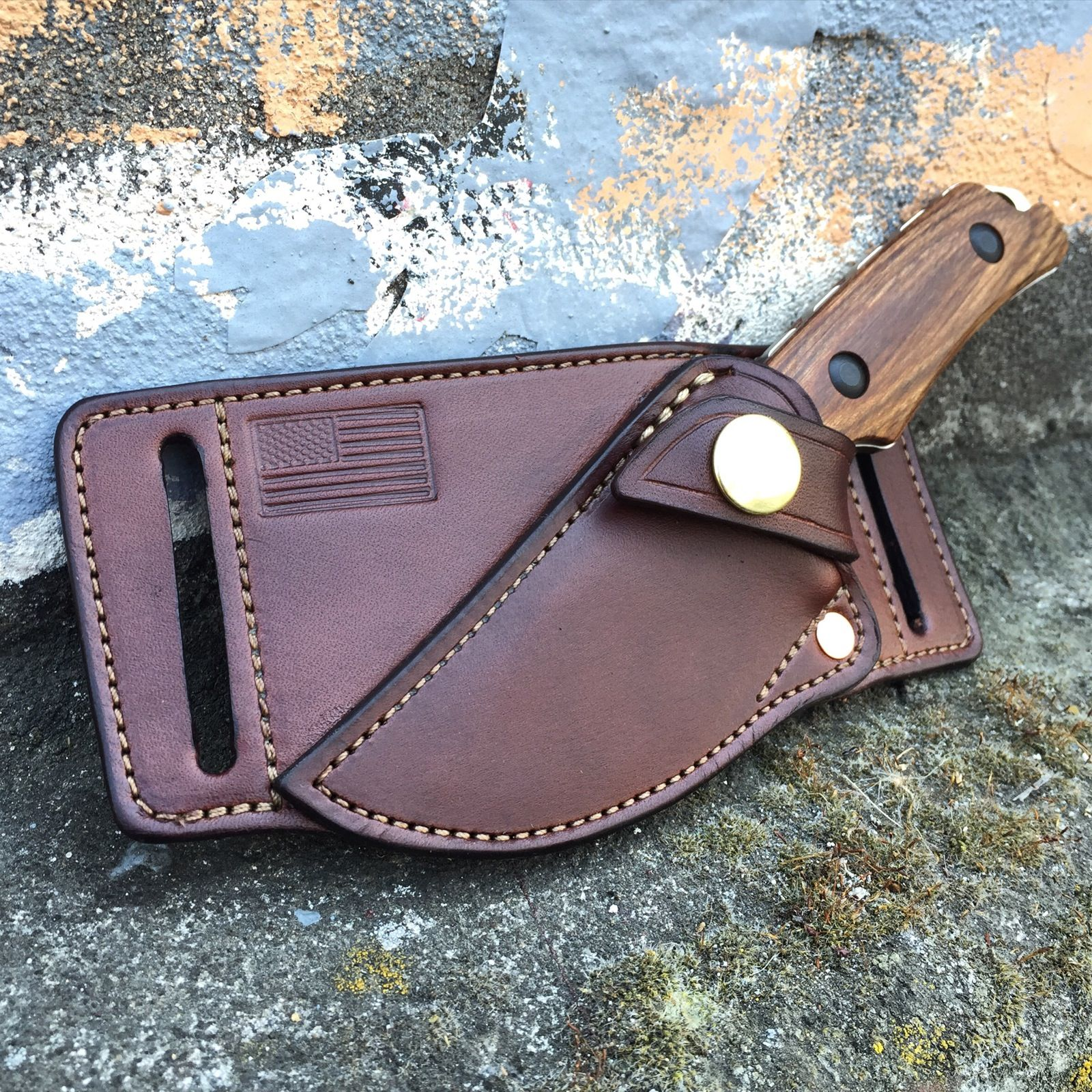 Cross-draw sheath for your favorite EDC fixed blade.