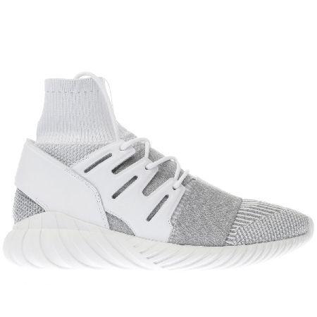 Adidas grey tubulare doom primeknit formatori l'adidas tubulare doom