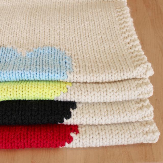 lavori a maglia, copertine per neonato fai da te