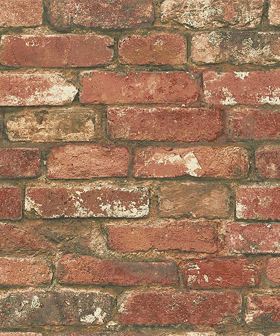Red Aged Brick Wallpaper Decal Roll