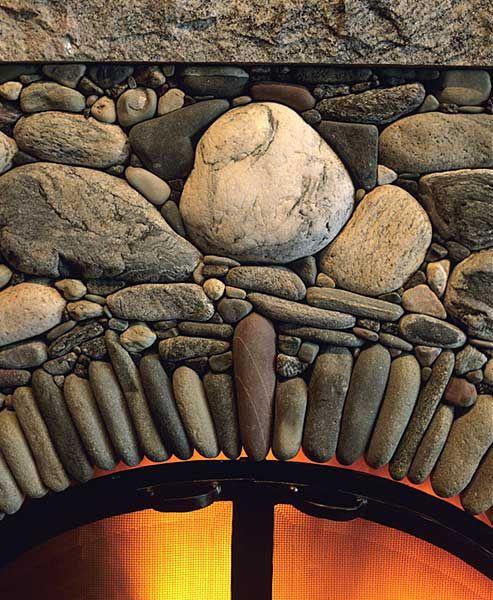 Mauerwerk, Fachwerk, Steine, Wohnen, River Rock Kamine, Feuerstellen Aus  Stein, Gestapelter Steinkamin, Kamin Umgibt, Innenkamine