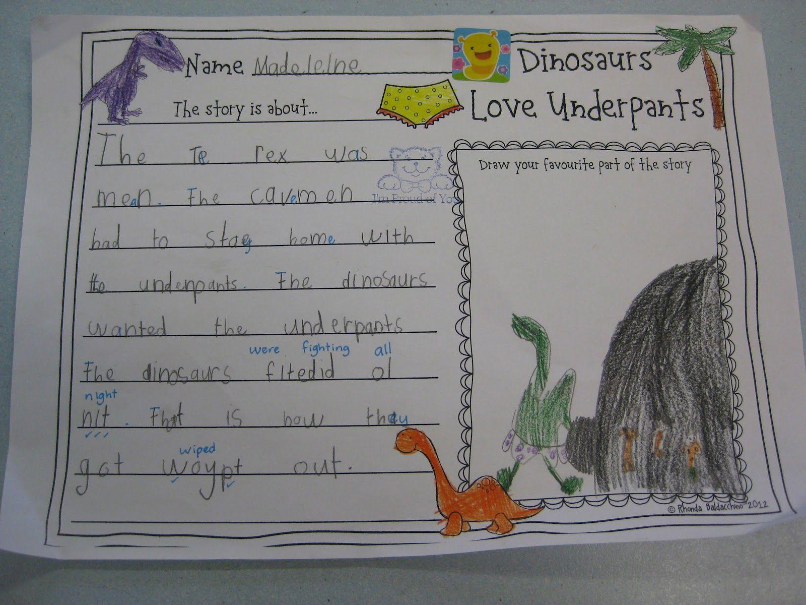 Dinosaurs Love Underpants lesson plan ideas
